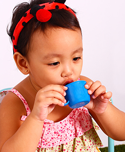 A Child's Sippy Cup with BPA