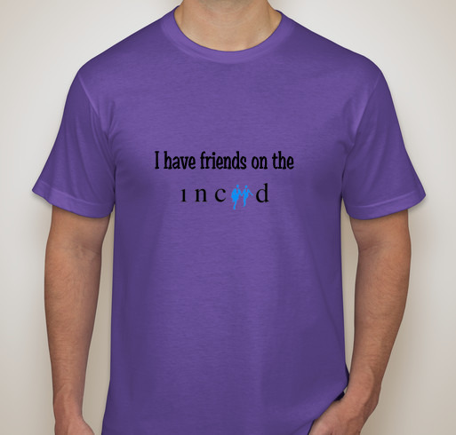 """T-Shirt-I have friends on the INCIID (""""inside"""")"""