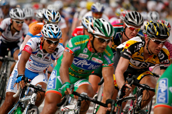 Male Cyclists racing
