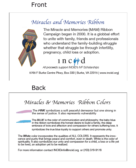 Support Ribbons for those struggling with fertility, multiple losses and adoption