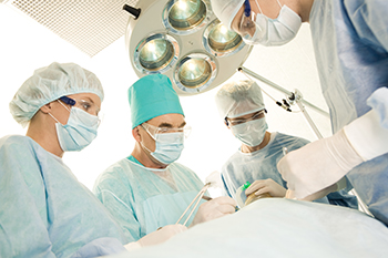 Photo of nurses as part of a surgical team